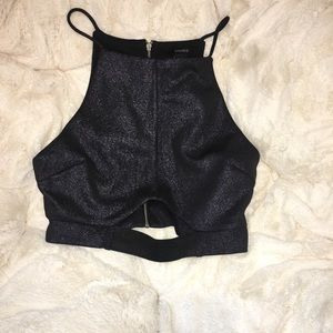 Forever 21 sparkly crop top